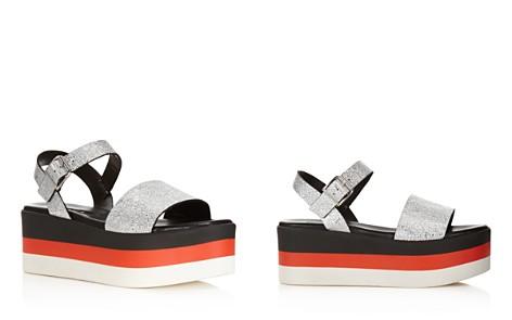 AQUA Women's Cruz Leather Striped Platform Sandals - 100% Exclusive - Bloomingdale's_2