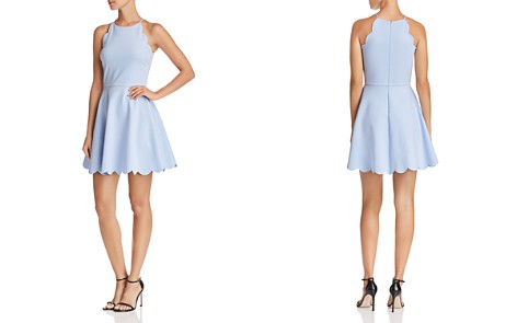 AQUA Scalloped Fit-and-Flare Dress - 100% Exclusive - Bloomingdale's_2