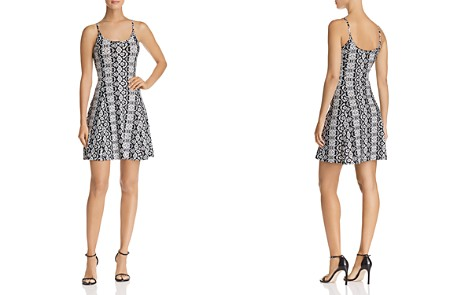 AQUA Printed Fit-and-Flare Dress - 100% Exclusive - Bloomingdale's_2