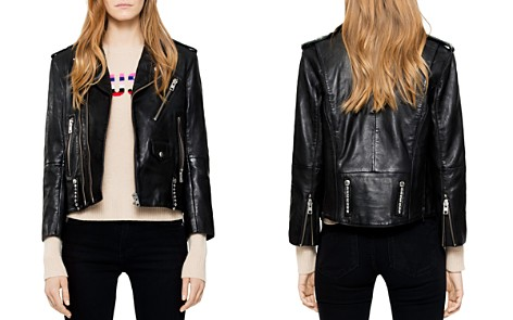Zadig & Voltaire Liya Studded Leather Jacket - Bloomingdale's_2