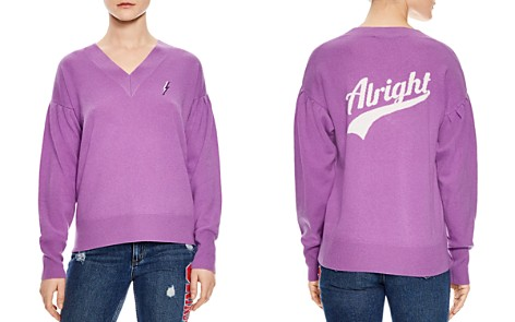 Sandro Ourida Wool & Cashmere Alright Graphic Sweater - Bloomingdale's_2
