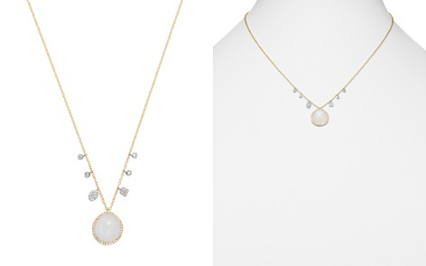 """Meira T 14K White & Yellow Gold Rainbow Moonstone & Diamond Charm Necklace, 16"""" - Bloomingdale's_2"""