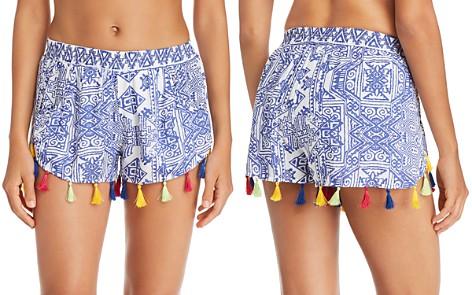 Surf Gypsy Mykonos Print Tassel Detail Shorts Swim Cover-Up - Bloomingdale's_2