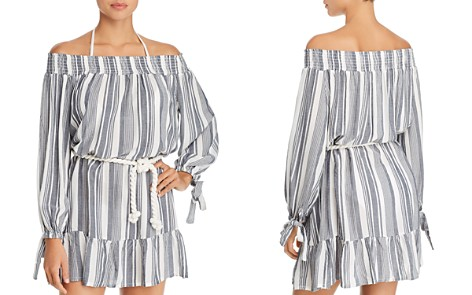 Surf Gypsy Off-the-Shoulder Stripe Dress Swim Cover-Up - Bloomingdale's_2
