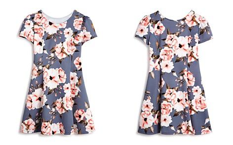 AQUA Girls' Cap-Sleeve Floral Dress, Big Kid - 100% Exclusive - Bloomingdale's_2