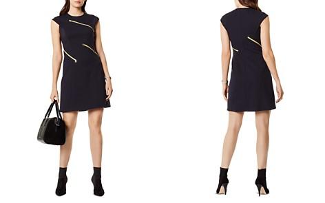 KAREN MILLEN Zip Detail A-Line Dress - Bloomingdale's_2