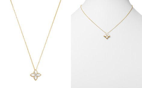 """Roberto Coin 18K Yellow Gold Venetian Princess Mother-Of-Pearl & Diamond Pendant Necklace, 16"""" - Bloomingdale's_2"""