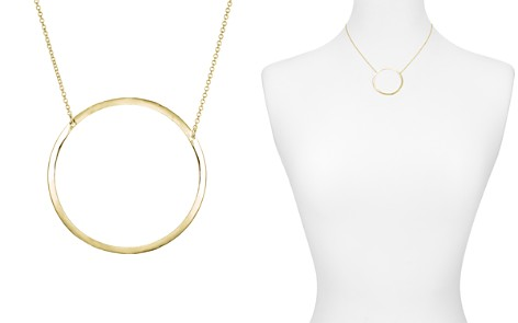 "AQUA Open Circle Pendant Necklace, 15"" - 100% Exclusive - Bloomingdale's_2"