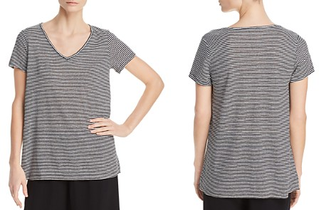 Eileen Fisher Organic Linen Striped Top - Bloomingdale's_2