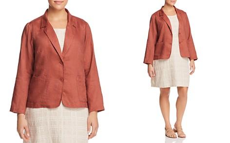 Eileen Fisher Plus Organic Linen Shaped Blazer - Bloomingdale's_2