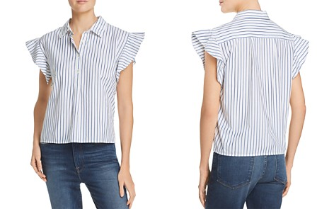 FRAME Ruffle-Sleeve Striped Shirt - Bloomingdale's_2