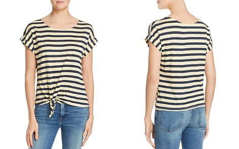 FRAME Tie-Front Striped Tee - Bloomingdale's_2