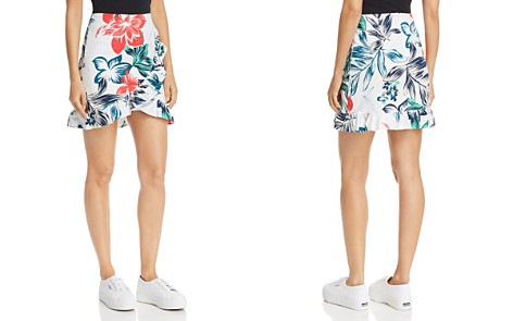 AQUA Ruffled Floral Print Skirt - 100% Exclusive - Bloomingdale's_2