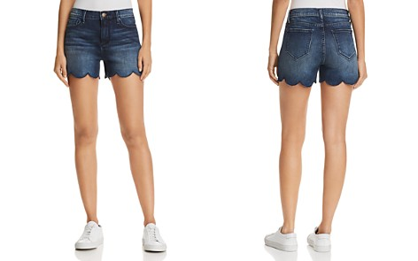 AQUA Scalloped Denim Shorts in Indigo - 100% Exclusive - Bloomingdale's_2