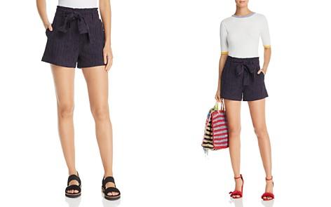 AQUA Textured Tie-Belt Shorts - 100% Exclusive - Bloomingdale's_2