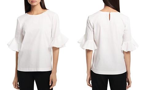 Calvin Klein Ruffled Sleeve Top - Bloomingdale's_2