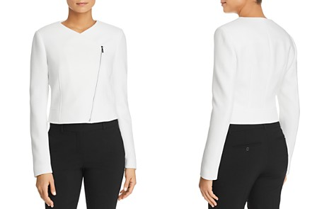 BOSS Juleama Asymmetric Cropped Jacket - Bloomingdale's_2