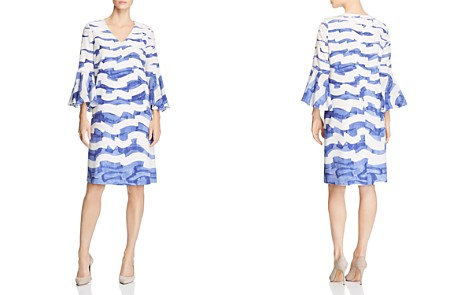 Lafayette 148 New York Holly Wave-Print Silk Dress - Bloomingdale's_2