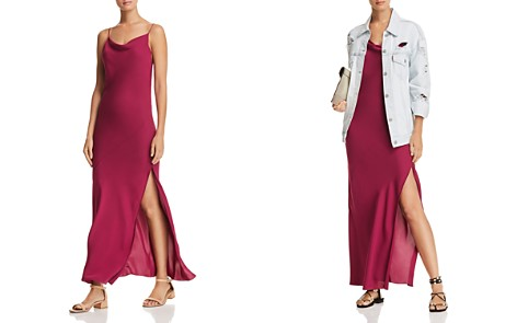 Theory Draped Silk Maxi Dress - Bloomingdale's_2