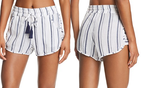 Lucky Brand Stripe Dolphin Shorts Swim Cover-Up - Bloomingdale's_2