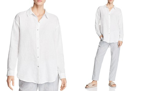 Eileen Fisher Organic Linen Button-Down Shirt - Bloomingdale's_2