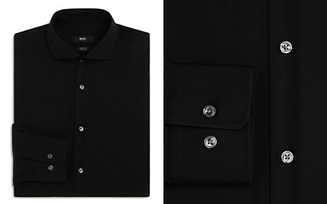BOSS Solid Basic Regular Fit Dress Shirt - Bloomingdale's_2