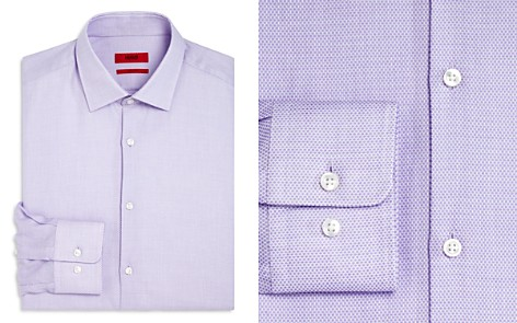 HUGO Textured Dot Regular Fit Dress Shirt - Bloomingdale's_2