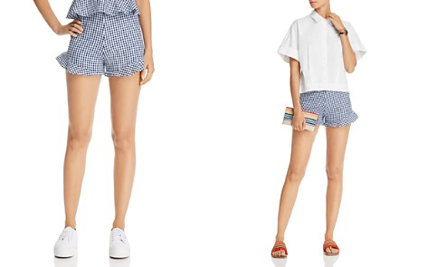 AQUA Flounce-Hem Gingham Shorts - 100% Exclusive - Bloomingdale's_2