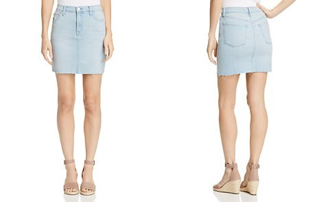 J Brand Lyla Denim Mini Skirt in Sky - Bloomingdale's_2