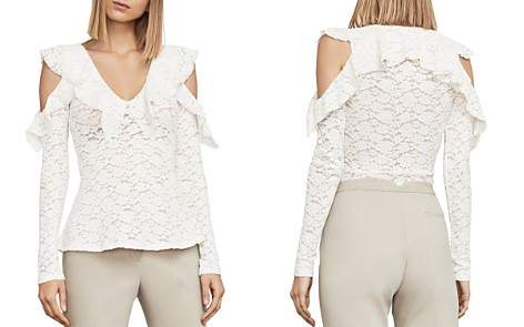 BCBGMAXAZRIA Astril Cold-Shoulder Lace Top - Bloomingdale's_2