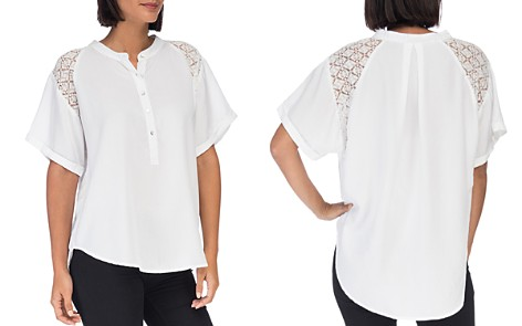 B Collection by Bobeau Carey Lace-Trimmed Blouse - Bloomingdale's_2