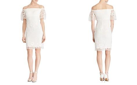Lauren Ralph Lauren Petites Off-the-Shoulder Lace Dress - Bloomingdale's_2
