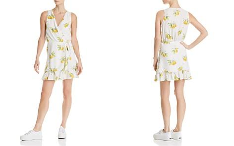 Rails Madison Lemon Print Silk Wrap Dress - Bloomingdale's_2