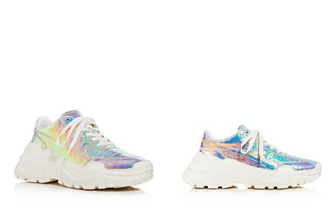 Joshua Sanders Women's Leather & Holographic Foil Lace Up Sneakers - Bloomingdale's_2