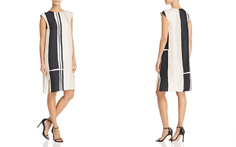 Theory Hans Silk Stripe Shift Dress - Bloomingdale's_2