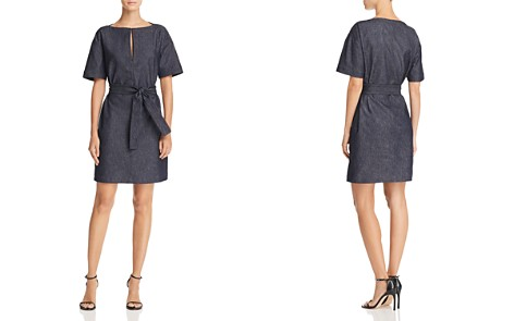 Theory Belted Denim Shift Dress - Bloomingdale's_2
