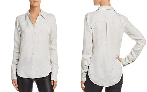 Theory Tonal Floral Button Down Blouse - Bloomingdale's_2