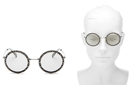 Valentino Women's Embellished Round Sunglasses, 53mm - Bloomingdale's_2