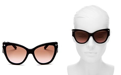 Valentino Women's Cat Eye Sunglasses, 55mm - Bloomingdale's_2