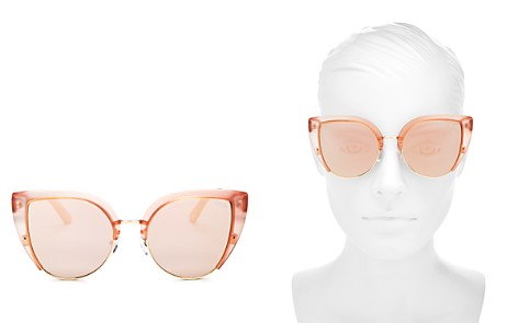 Quay Oh My Dayz Mirrored Cat Eye Sunglasses, 58mm - Bloomingdale's_2