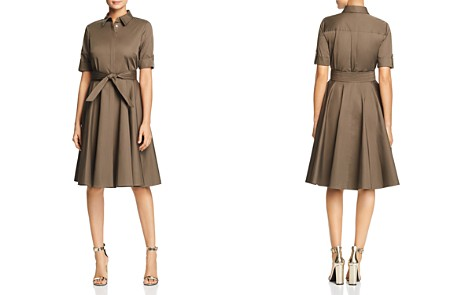 Badgley Mischka Poplin Fit-and-Flare Shirt Dress - Bloomingdale's_2