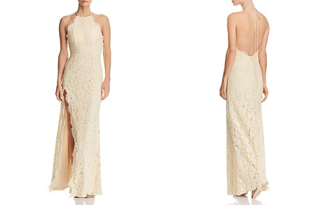 Fame and Partners Dragon Eyes Lace Halter Gown - Bloomingdale's_2