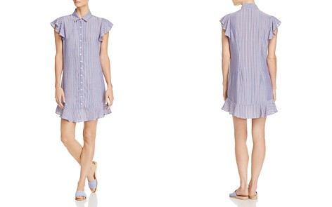 AQUA Flounce-Hem Striped Shirt Dress - 100% Exclusive - Bloomingdale's_2