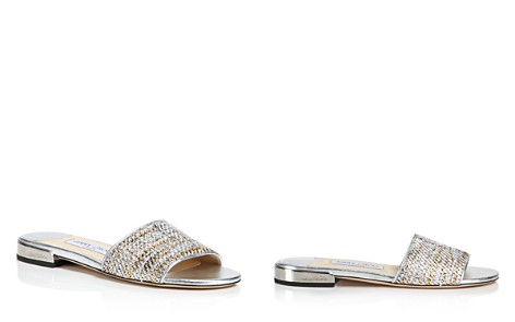 Jimmy Choo Joni Woven Metallic Slide Sandals - Bloomingdale's_2
