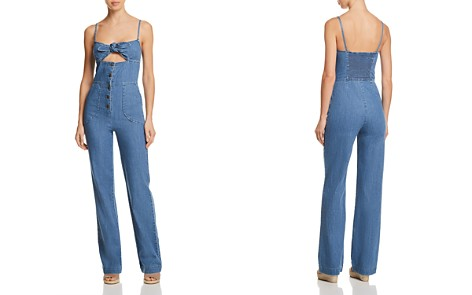 Joe's Jeans Lucia Denim Jumpsuit in Medium Indigo - Bloomingdale's_2