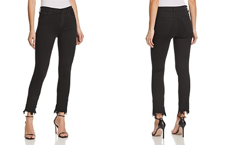 J Brand Ruby High Rise Crop Cigarette Jeans in Black Lace - Bloomingdale's_2
