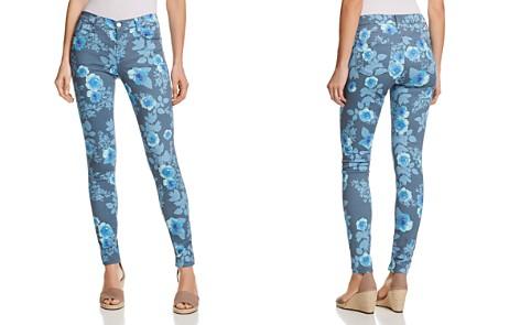 J Brand 620 Mid Rise Super Skinny Jeans in Floral Rain - Bloomingdale's_2
