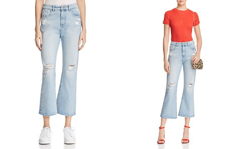 DL1961 Wallace Vintage High Rise Crop Flare Jeans in Lost River - Bloomingdale's_2
