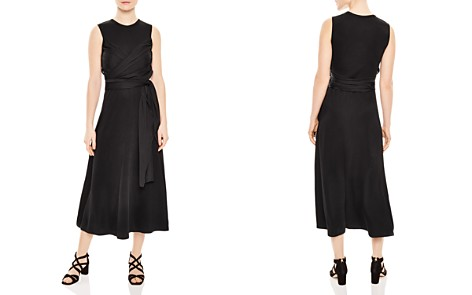 Sandro Trudy Ruched Midi Dress - Bloomingdale's_2