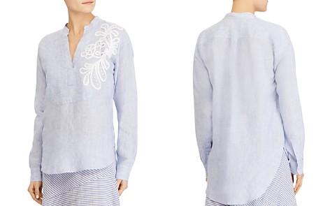 Lauren Ralph Lauren Embroidered Linen Tunic - Bloomingdale's_2